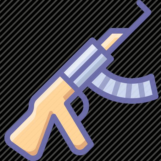 gun, kalashnikov, rifle icon