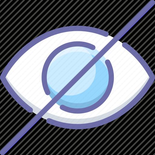 disable, eye, hide icon