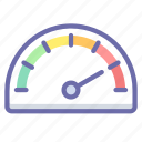 gauge, speed, speedometer icon