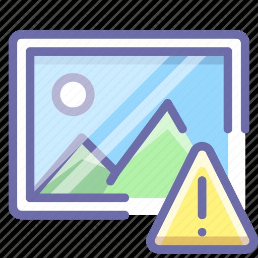 alert, image, photo icon