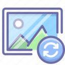 image, photo, sync icon