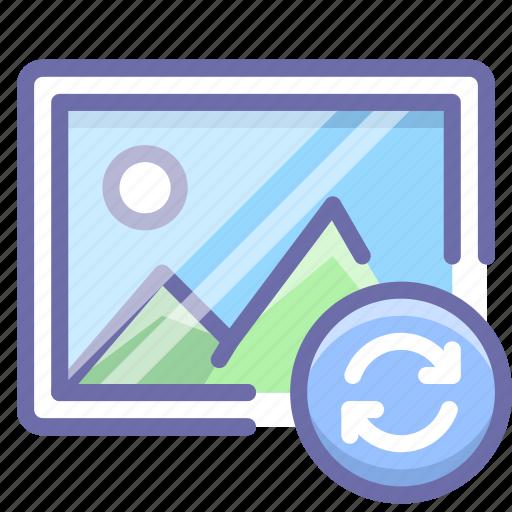 image, photo, sync icon