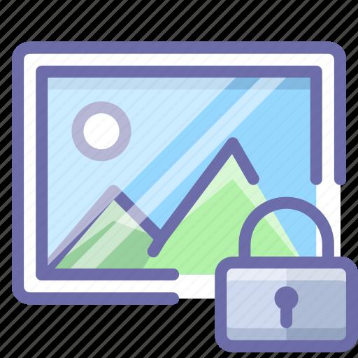 image, lock, photo icon