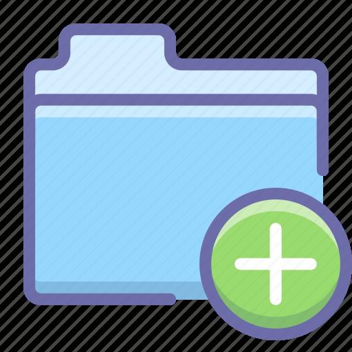 add, folder, new icon