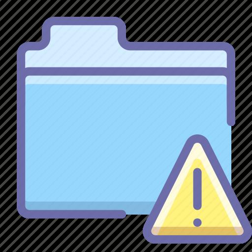 alert, files, folder icon