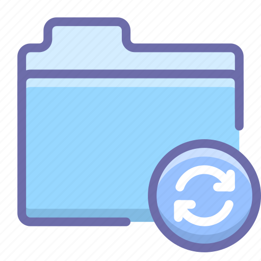 files, folder, sync icon