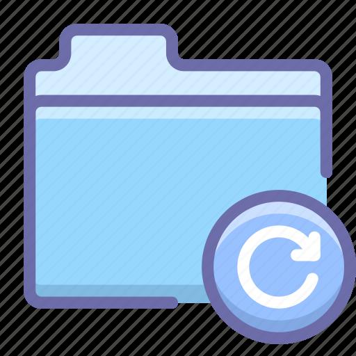 folder, refresh, restore icon