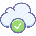 cloud, complete, data icon