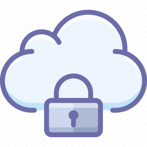 Cloud, data, lock icon - Download on Iconfinder
