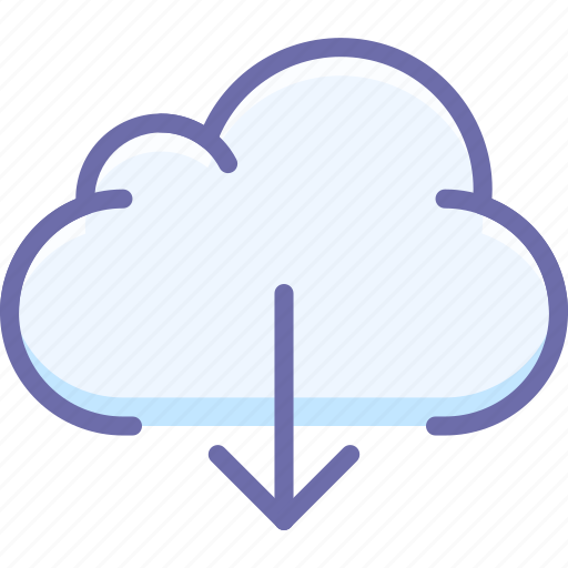 cloud, data, download icon