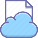cloud, data, document icon