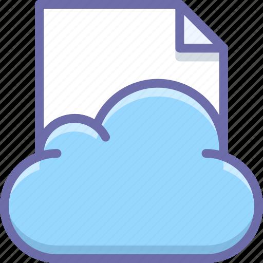 cloud, data, document icon