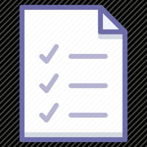 document, file, todo icon