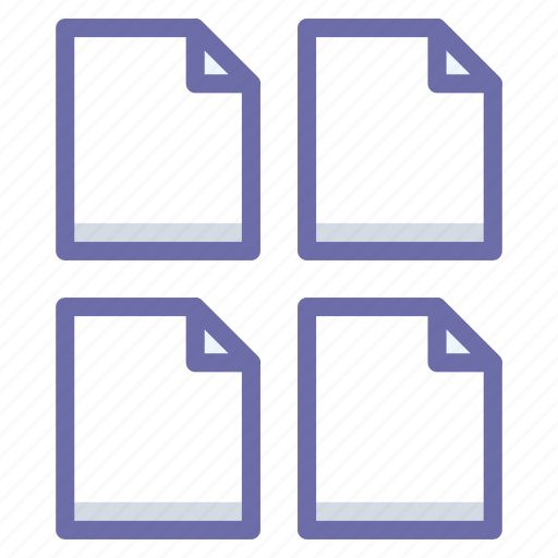documents, files, multiple icon