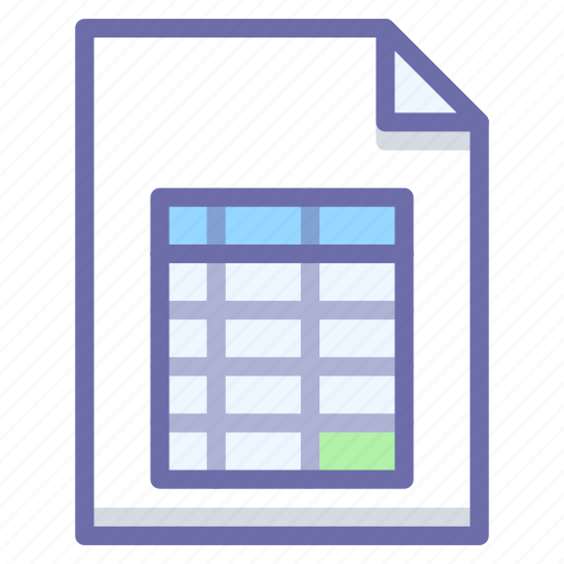 document, excel, table icon