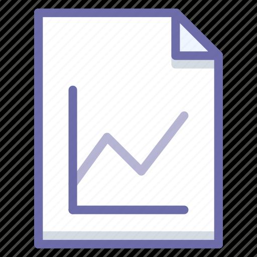 analytics, document, graph icon