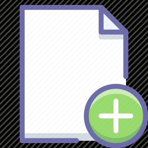 add, document, new icon