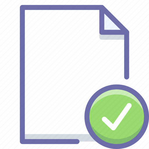 complete, document, selected icon