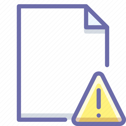 alert, document, file icon