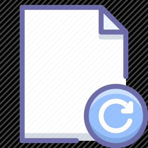 document, file, reload icon