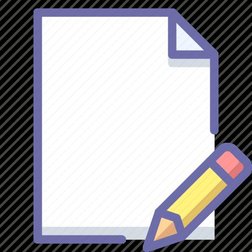 document, edit, pencil icon