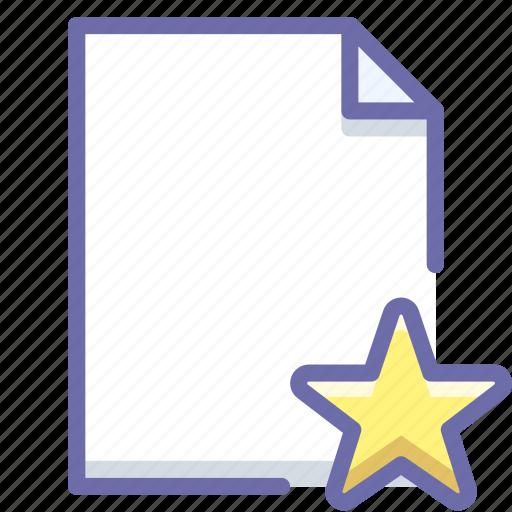 document, favorite, file icon