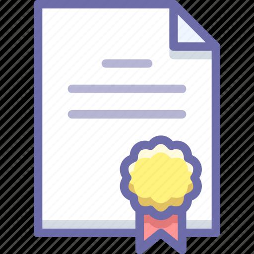agreement, document, license icon