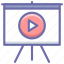 board, presentation, video icon