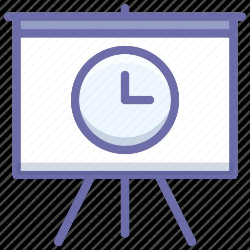 board, presentation, time icon