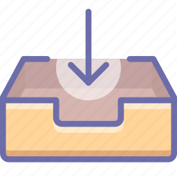 box, email, inbox, mail, mailbox, receive icon