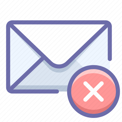 delete, mail, message icon