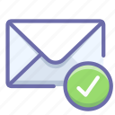 mail, sent, verification icon