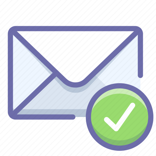 mail, sent, verification icon