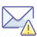 alert, mail, message icon