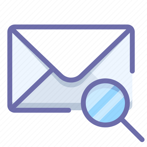 mail, message, search icon
