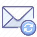 mail, message, sync icon