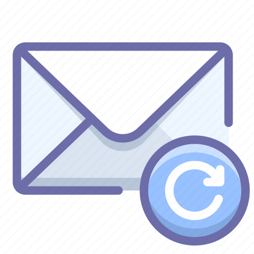 mail, message, retry icon