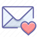 mail, message, valentine icon