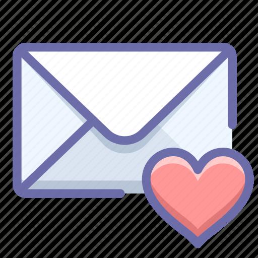 mail, message, valentine icon