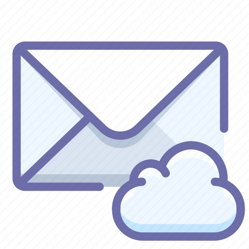 cloud, envelope, mail icon