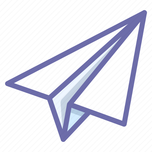 paper, paperplane, plane icon