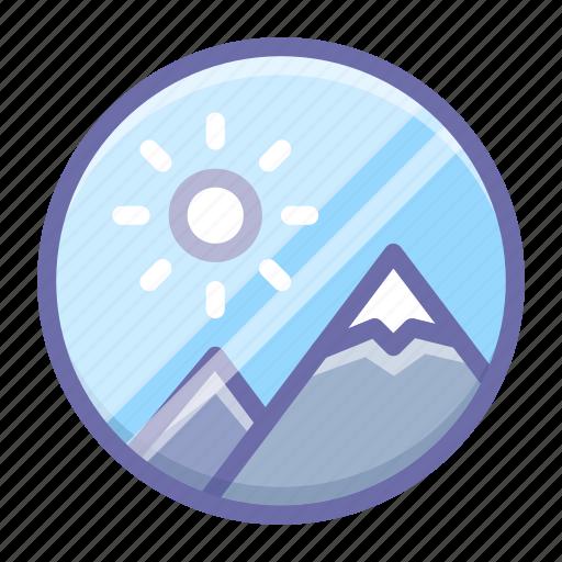 image, nature, round icon