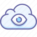 cloud, eye, god icon