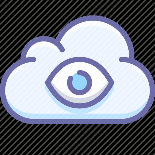 cloud, eye, god icon