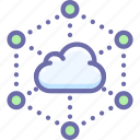 network, data, cloud