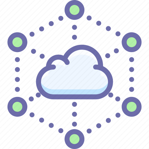 cloud, data, network icon
