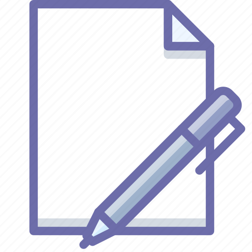 document, edit, new icon