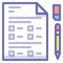 document, exam, test icon