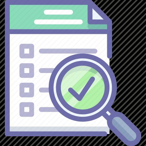 checklist, document, inspect icon