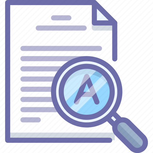 Document, inspect, text icon - Download on Iconfinder